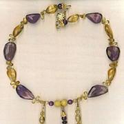 SALE Ametrine Beads Citrine & Mandarin Garnets Beads : Ametrina