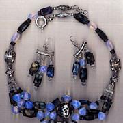 SALE Labradorite & moonstone beads : Blue Bayou