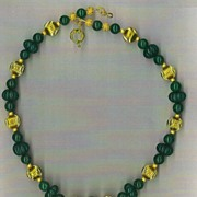 SALE Genuine Emerald beads : The Color of Money I