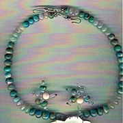 SALE Peruvian AAA Blue Opals & Blue Aquamarine beads : Flower Power