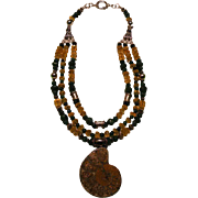 SALE Ammonite Pyrite ( Fool's Gold ) Citrine Emerald beads : Fools Gold