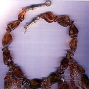 SALE Russian Black Amber & Citrine  beads : Hang Over