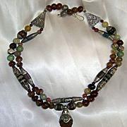 SALE Tibetan Bees-wax Amber beads Carnelian TQ Conch shell : Melon Power