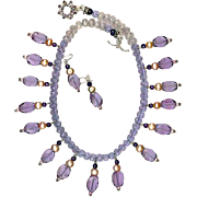 SALE Lavender Quartz Amethyst Pearls : Movie Star