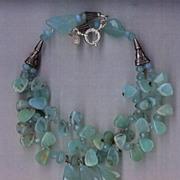 SALE Peruvian Opal beads & Chalcedony beads Swaroski crystals : Opalicious