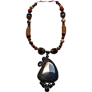 SALE Tibetan Lapis Pendant Lapis beads : Orient Express
