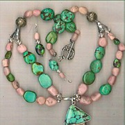 SALE Turquoise Pink Drusy (Druzy) Pink Opal beads : The Pink Flamingo