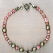 SALE Pink Quartz Pendant Pink Opals : Pink Panther