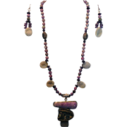 SALE African Sugulite & Druzy (Drusy) beads Pyrite  Fossil : Sugar Baby