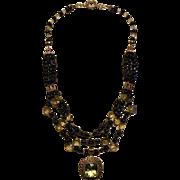 SALE Citrine & Sapphire beads : Sunshine & Blue Sky