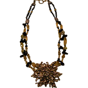SALE Tektite Meteorite & Citrine beads : Twinkle Twinkle Little Star