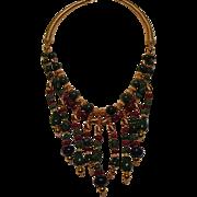 SALE Ruby Emerald Sapphire beads : Nefertiti