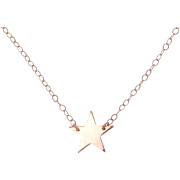 Sideways Star Necklace, 14K Solid Rose Gold, As Seen On Kelly Ripa and Lea Michele