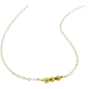Tiny Gold Bead Necklace, 18k Solid Gold 3mm Faceted Beads - Delicate, Dainty, Minimal Layering