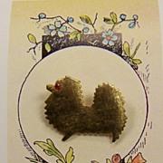 Vintage Mid Century Pomeranian Pin