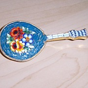 "REDUCED Micro-mosaic Mandolin Brooch Signed ""Italy"""