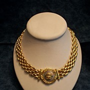 Gold Plate and Silver Plate in Italian Designed Power Necklace