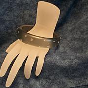 Rhinestone Encrusted Lucite Bracelet