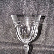 SALE Josair Fine Crystal Empire Pattern Water Goblet