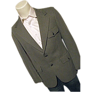SALE Vintage 60's Hart Schaffner & Marx Mens Gray Pattern Blazer Sport Coat 40 Wide