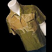 SOLD INCREDIBLE Vintage 1960's Andrade Honolulu Hawaiian Mens Shirt M RAT PACK