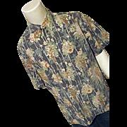 SOLD Vintage Reyn Spooner Mens Reverse Print Hawaiian Shirt XL Blue Floral
