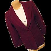 SALE Vintage Miss Pendleton Womens Burgundy 100% Wool Coat Medium
