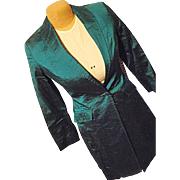 Vintage Reed Hill Womens Sm Girls 16 Teal Green Long Riding Show Jacket Equestrian