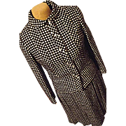Vintage Stefan for Briarbrook Womens Wool Black White Check Skirt Jacket Set Sm