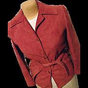 Vintage 1970's Californian Womens Suede Leather Jacket S California Sportswear