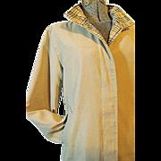 NICE Vintage 1990's Burberrys of London Womens Camel Microfiber Nova Check Coat Med