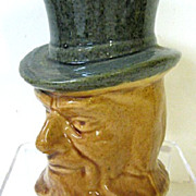 SALE Early 1900s Roseville Pottery Uncle Sam Bank