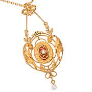 Belle Époque French Pearl Pendant & Chain