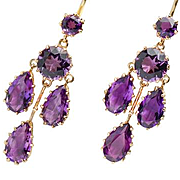 Deep Reverie - Chandelier Amethyst Earring