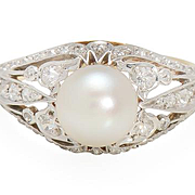 Black Starr & Frost Natural Pearl Ring