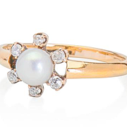 New Love: Diamond Pearl Ring