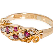 Edwardian Accent: Diamond Ruby Ring