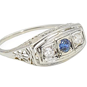 Forever in Bloom - Diamond Sapphire Ring