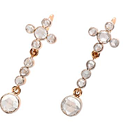 Elegant Rose Cut Diamond Earrings