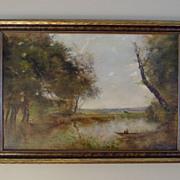 SALE Beautiful Pastoral Landscape Oil Painting