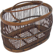 SALE Antique Bentwood Ladies' Basket, Birdcage Form
