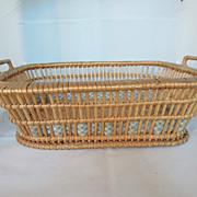 Beautiful 19th Century French Wicker Basket