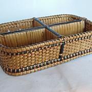Wonderful Small Divided Basket or Desk Organizer