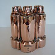 SALE Rare Registered Antique English Copper Mould, Mold, ca. 1850