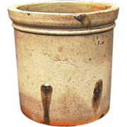 Antique Salt Glaze Crock, Monmouth Pottery Co.