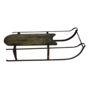 SALE Antique Child's Sled with Iron Runners