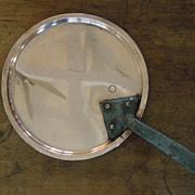 SALE Antique English Copper Pan Cover, Downton Abbey
