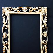 SALE Vintage Italian Rectangular Gilt Frame, Italian