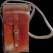 Antique Leather Ammunition Case, Cowhide, 19th Century