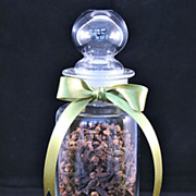 SALE English Hand Blown Chemists Apothecary Bottle